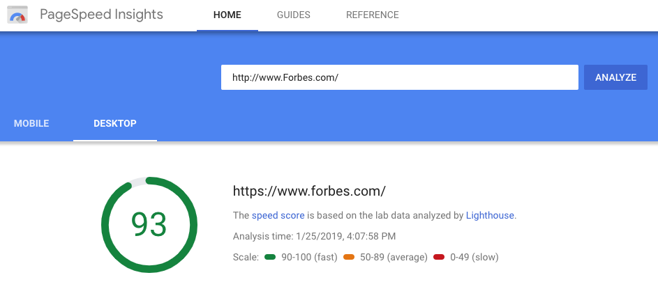 Google PageSpeed Insights Best Seo Tools 2019