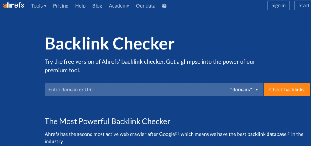 Ahrefs' Backlink Checker Best SEO Tools 2019