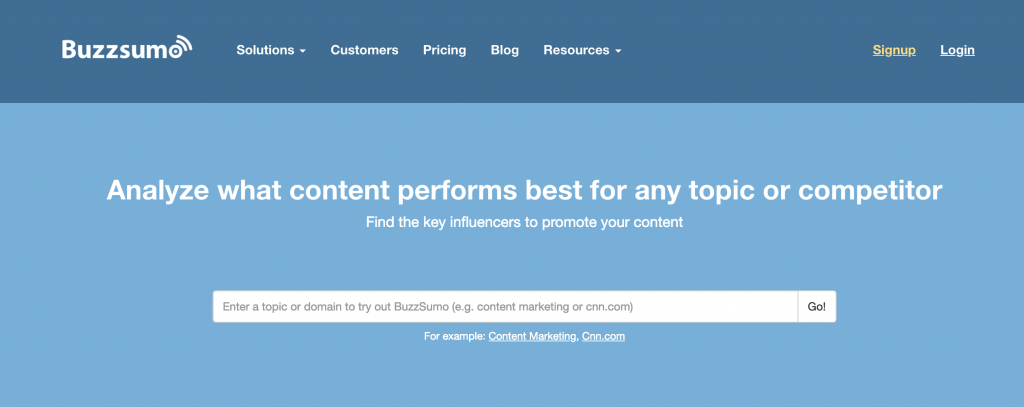 buzzsumo analyze youtube content